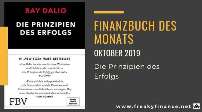 Finanzbuch des Monats Oktober 2019, Buchvorstellung, Die Prinzipien des Erfolgs! Der Bestseller von Ray Dalio, Buchcover, freaky finance