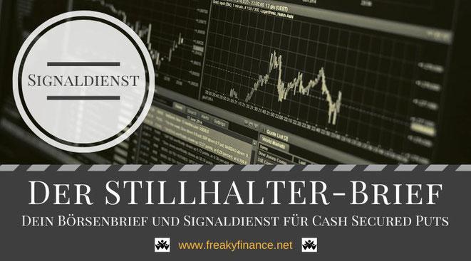 Der Stillhalter-Brief, Optionshandel für Anfänger, Optionen handeln, Börsenbrief, Signaldienst, Cash Secured Puts