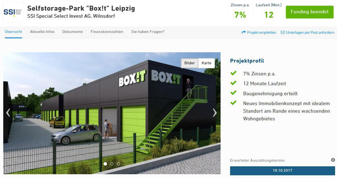 freaky finance, Selfstorage, Box it, Lagerflächen, Zinsland-Projekt, Lagerhaus