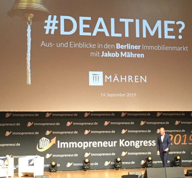 freaky finance, Immopreneur Kongress 2019, Hauptbühne, Darmstadtium, Jakob Mähren, Vortrag, Dealtime