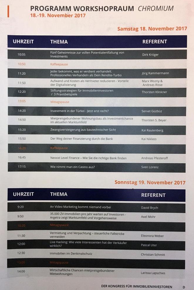 freaky finance, Immopreneur Kongress 2017, Programm Workshopbühne, Darmstadtium