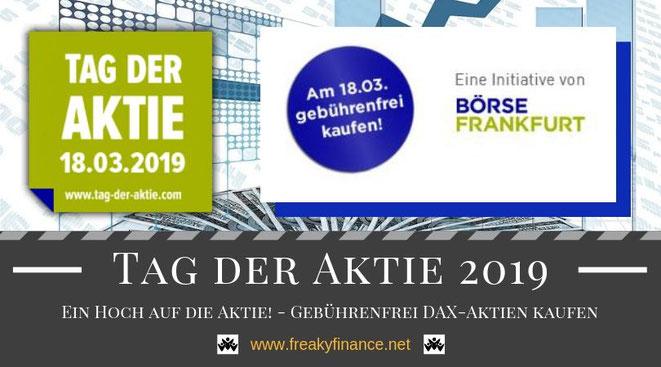 Tag der Aktie 2019, ein Hoch auf die Aktie, Dax Aktien und ETFs gebührenfrei kaufen