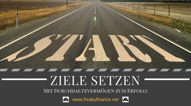 Ziele richtig setzen. Mit Durchhaltevermögen zum Erfolg! Schaffe deinen Weg vom Start zum Ziel und werde gewinnen!