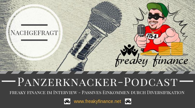 freaky finance, Panzerknacker, Podcast, Passives Einkommen generieren durch Diversifikation, Interview, Mikrofon