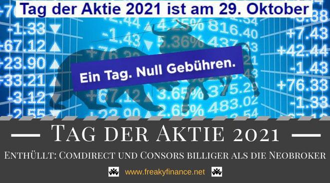 Tag der Aktie 2021, ein Hoch auf die Aktie, Dax Aktien und ETFs gebührenfrei kaufen