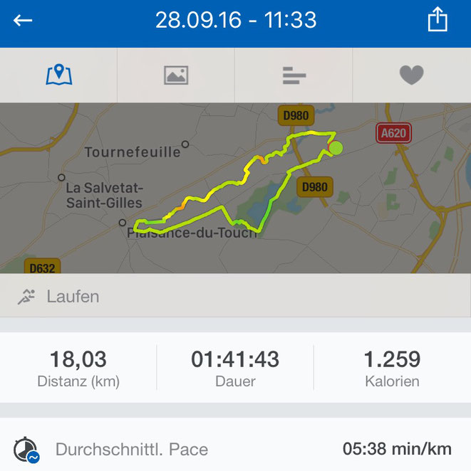 freaky running, Toulouse, Laufen, 18km