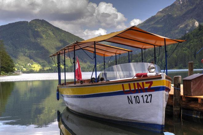 freaky travel, Finanzlady, Gastartikel, Mostviertel, Niederösterreich, Lunzer See im Sommer, Boot