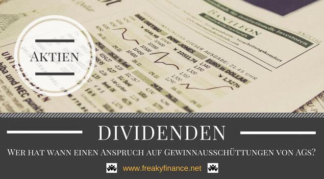 anspruch auf dividende