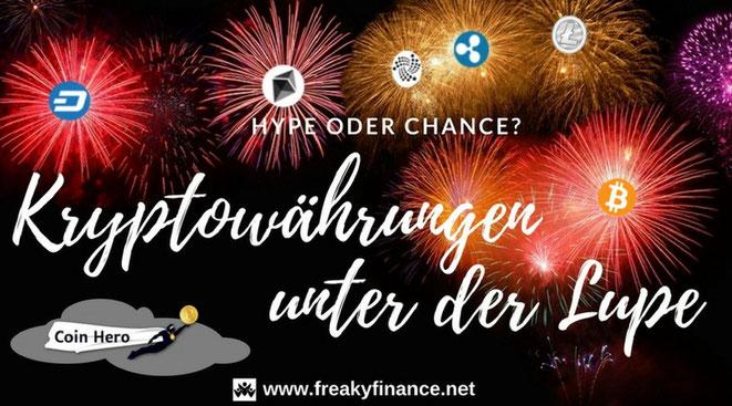 freaky finance, Gastartikel, Kryptowährungen, Coin Hero, Feuerwerk