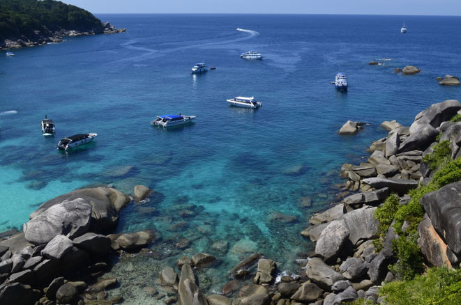 freaky travel, freaky finance, Meer, Similan Island, Bucht, Boote