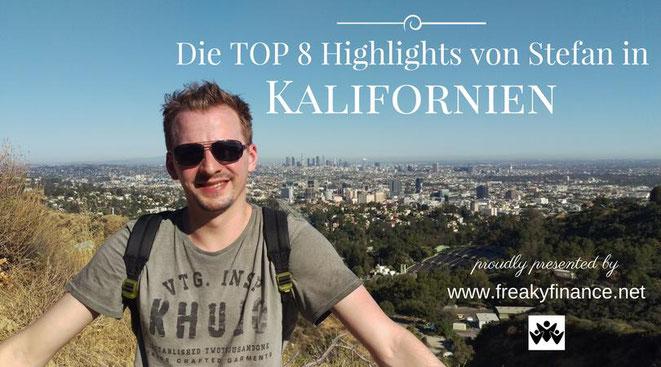freaky finance, freaky travel, Gastartikel, Kalifornien TOP 8 must-dos, Mann im Vordergrund, Großstadt im Hintergrund, Hochhäuser