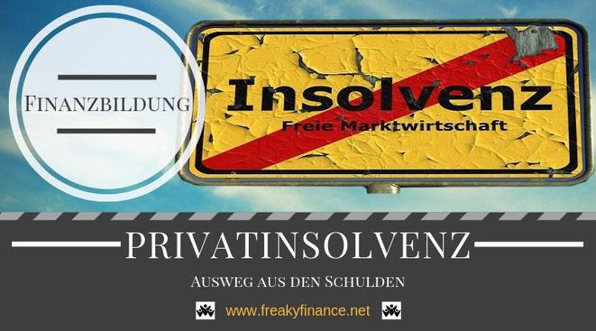 freaky finance, Finanzbildung, Wissen, Schulden, Insolvenz, freie Marktwirtschaft, Schild, Himmel, Stop, durchgetrsichen