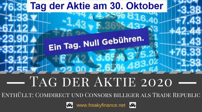 Tag der Aktie 2020, ein Hoch auf die Aktie, Dax Aktien und ETFs gebührenfrei kaufen