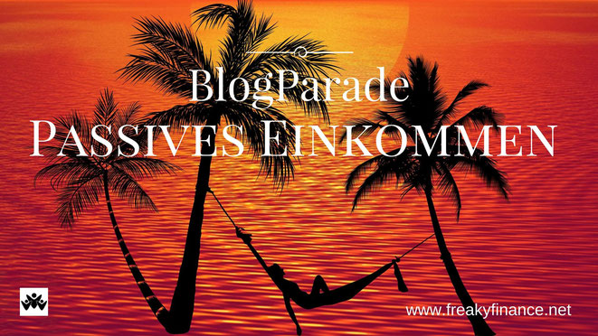 freaky finance, BlogParade passives Einkommen, Palmen, Hängematte, Meer, untergehende Sonne