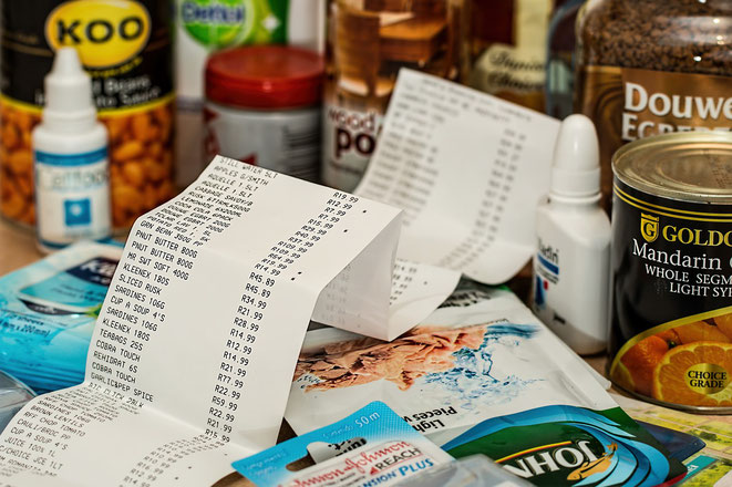 freaky finance, Konsumgüter, Dosennahrung, Kassenzettel, einkaufen