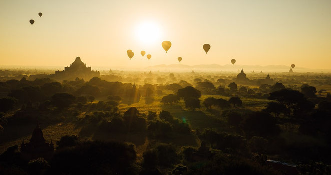 freaky finance, freaky travel, freaky bucket, Balloons over Bagan, Pagoden, Sonnenaufgang, Myanmar