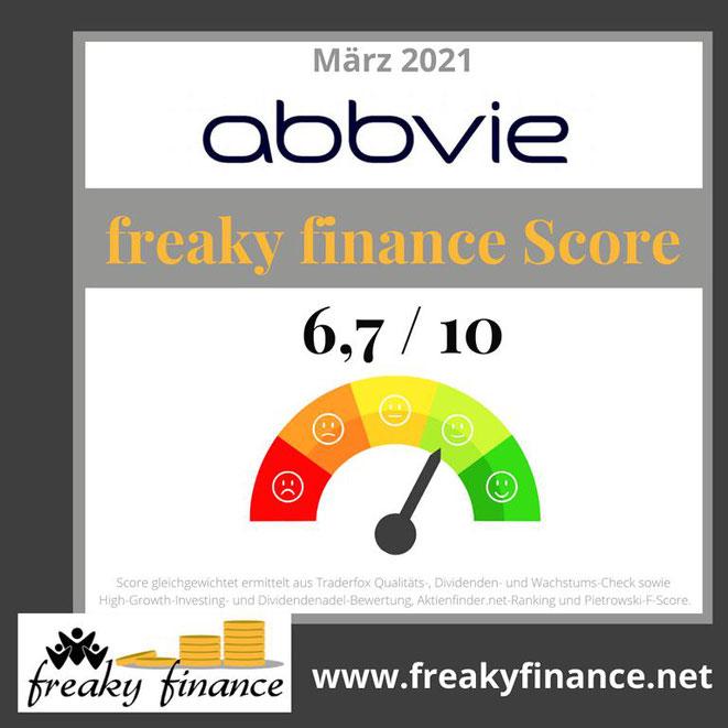 freaky finance, AbbVie, Aktien Score, Tachonadel, Tachometer, Bewertung