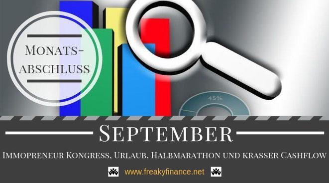 Der freaky finance Monatsabschluss September 2019. Erfahre mehr über meine Einnahmen durch Zinsen, Mieten und alternative Investment. Nimm mit mir gemeinsam mein Gesamtvermögen unter die Lupe.