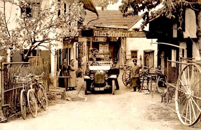 Der Betrieb Alois Schnitzer um 1900