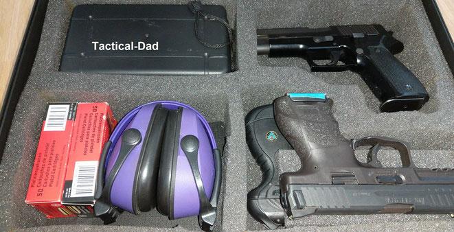 Mein neuer Pistolenkoffer gefällt mir jetzt viel besser als mein vorheriger Alu Werkzeugkoffer aus dem Baumarkt.