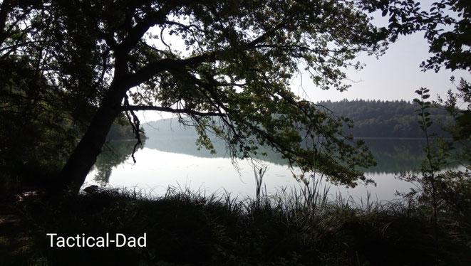 Der See mitten im Naturschutzgebiet ist so groß, dass es dort sogar einen Badeplatz gibt. Meist gilt in solchen Schutzgebieten ein Betretungsverbot.