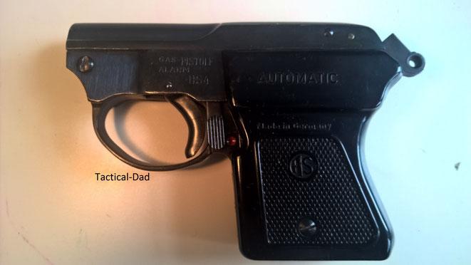 Die HS-4 Pistole von Herbert Schmidt kann man in gespanntem Zustand nicht sichern.