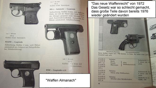 Ab 1969 mussten alle neu hergestellten SSW eine PTB-Zulassung haben. Spätestens 1976 hätten damit alle Wadie Pistolen angemeldet und in WBKs eingetragen werden müssen.