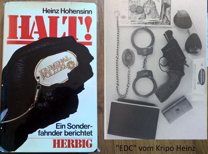 """Das Buch """"Halt Kriminal Polizei"""" las ich in meiner Polizeiausbildung. Es prägte mich für meinen späteren Beruf wie kaum etwas Anderes. Ich entwickelte ein Selbstverständnis um auch in der Freizeit jederzeit bereit zu sein."""
