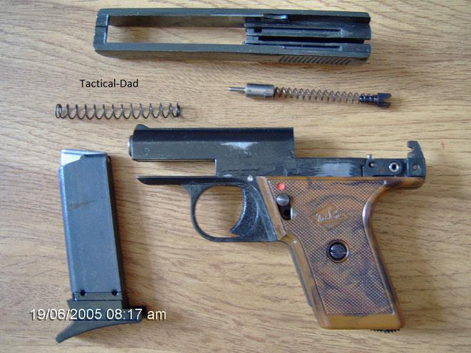 Perfecta G5 Pistole zerlegt
