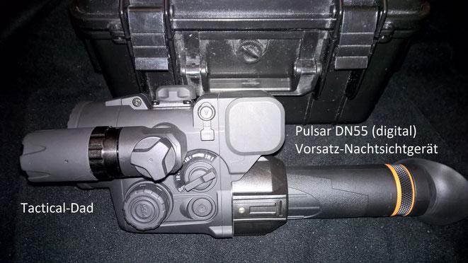 Für die nächste Streife bei der ich Wilderer suche habe ich ein Pulsar DN55 Nachtsichtgerät organisiert.