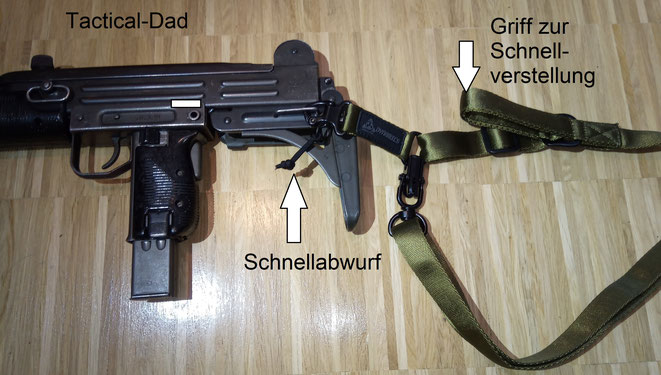 Der 1-Punkt Riemen ist eher für kompaktere Waffen geeignet, wie MPs oder Karabiner. Dieser Magpul Riemen ist eine China Kopie für 20 Euro.