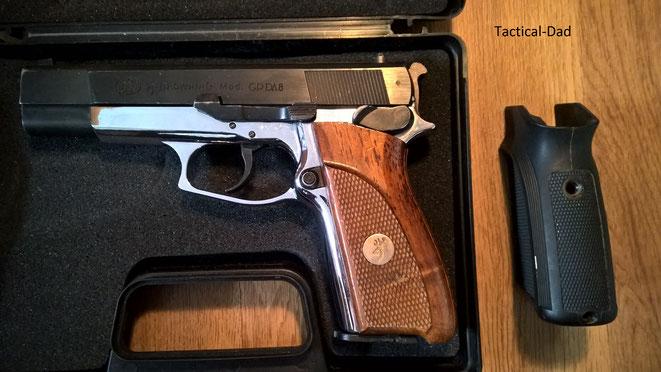 Die GPDA8 von Umarex war mit dem Kaliber 8mmk. der Vorläufer der GPDA9, die in 9mm PAK immer noch gefertigt wird.