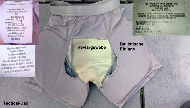 """Die ballistische Unterhose des US Militär heißt """"Protective Under Garment"""" (PUG). Sie hat viel Kevlar verarbeitet, ist jedoch alles andere als """"kugelsicher""""."""