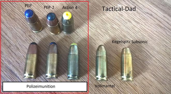 Behördenmunition wird nicht auf dem Zivilmarkt gehandelt. Vollmantelmunition sollte man niemals verwenden, sie gibt nicht genug Energie im Ziel ab und gefährdet Unbeteiligte.