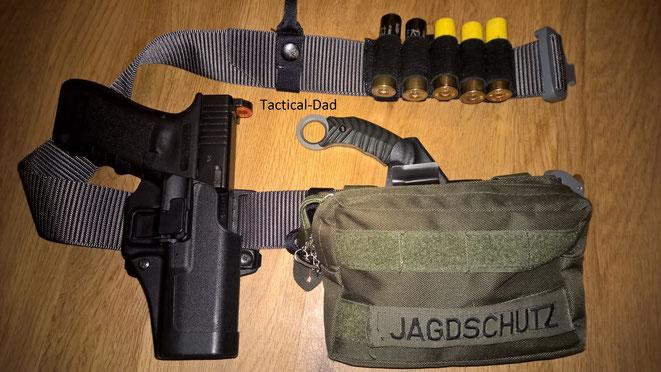 Meine Glock die mich schon lange begleitet, derzeit meist beim Jagdschutz.