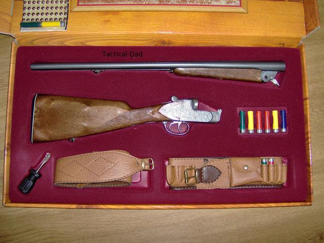 Montecarlo Spielzeuggewehr im Koffer mit Zubehör