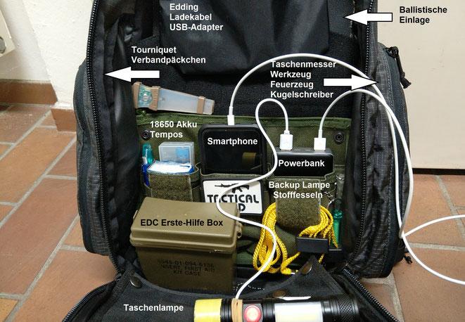 Um mehr Ordnung in meinem Helikon-Tex Rucksack zu haben, habe ich ein altes Klett Panel für sechs AR-15 Magazine darin befestigt.