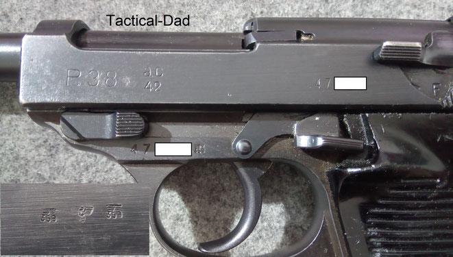 Meine Wehrmachts P38 stelle ich hier vor (Klick auf das Bild). AC42 bedeuted, dass sie 1942 von Walther gebaut wurde.