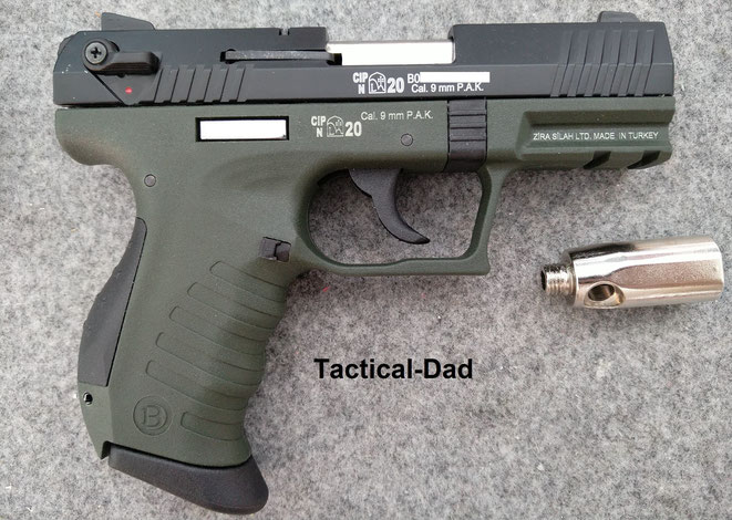 """Die """"Blow TR34"""" Schreckschusspistole ist für ihre 70 Euro eine ernsthafte """"Bedrohung"""" für manch andere Waffenhersteller."""