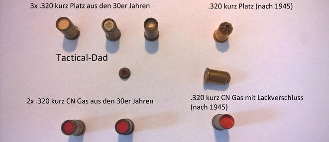 Die .320 kurz Munition ist frei verkäuflich, da es dafür Waffen mit PTB-Zulassung gibt. Heute wird sie nicht mehr hergestellt.