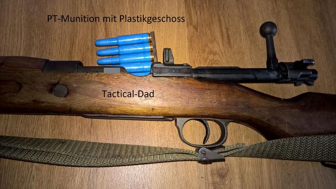 Wer ein FR8 schießt sollte auch Ladestreifen verwenden, das gehört sich einfach so und macht Spaß. Die vom K98 passen dafür.