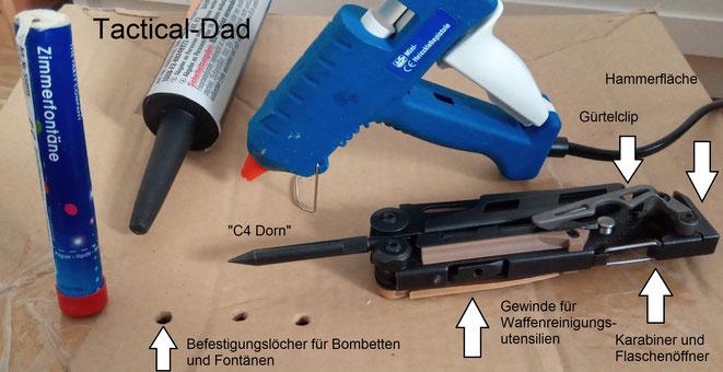 Der EODler benötigt den C4 Dorn logischerweise um Löcher für seine Nr. 8 Sprengkapseln in den Sprengstoff zu drücken. Ich habe ihn für was Anderes verwendet ;-)