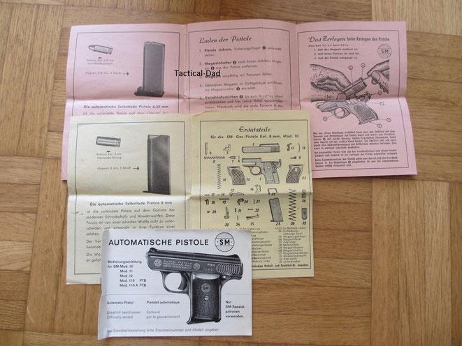 Anleitungen der SM Pistolen