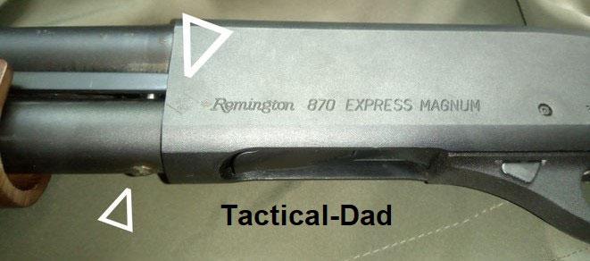 Remington 870 Repetierflinte. Von Frankonia auf Salut umgebaut. Die Waffe hat eine BKA Bauartzulassung die von Frankonia selber eingeschlagen wurde. Ein Stahlbolzen behindert das Zerlegen.