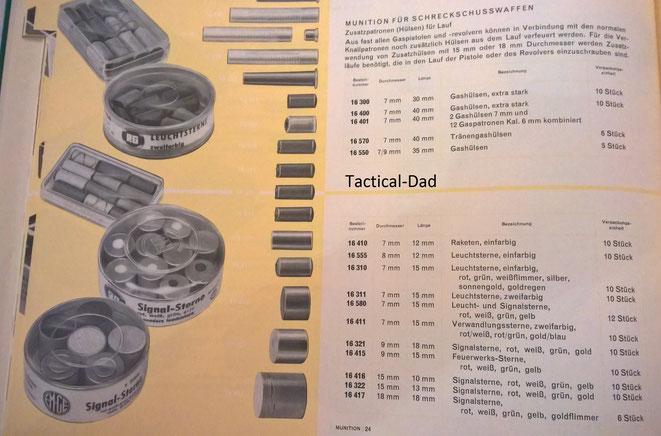 GECO Katalog von 1964. Für mich persönlich ist das die interessanteste Zeit hinsichtlicher der Schreckschusswaffen gewesen.