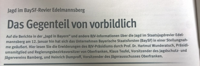 """In der Jagd in Bayern ist in Bericht über die """"Skandal- Drückjagd""""."""