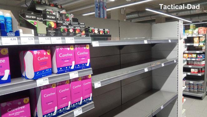 Klopapier und Küchenpapier wurde in großen Mengen während der Krise gehamstert, Kondome und Gleitgel aber offensichtlich nicht...