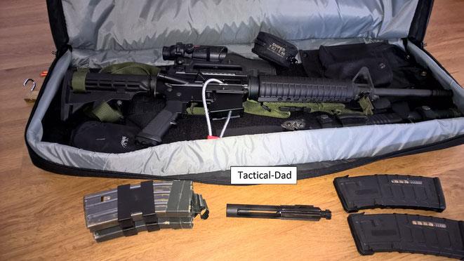 """Eine Waffe für alle Fälle. Wenn man es im Hotelzimmer oder """"etwas länger"""" im Auto lassen muss kann man so viele Schlösser wie möglich anbringen und den Verschluss am Körper tragen oder im Tresor lagern."""