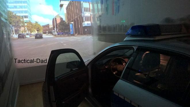 Fahrsimulator im Polizeimuseum Hamburg.