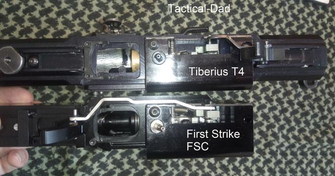 Die First Strike FSC, Tiberius T8.1, T9.1, T4 und T4.1 sind innen alle fast gleich aufgebaut und sie verwenden die selbe Regulier- und Steuereinheit.